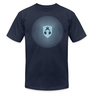 NAVY Crest Radiation - Men's T-Shirt by American Apparel
