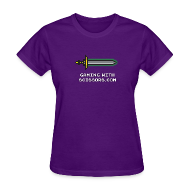 T-Shirts ~ Women's T-Shirt ~ Purple Pixel Sword 2 Women