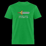 T-Shirts ~ Men's T-Shirt ~ Green Pixel Sword Mens