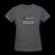 Women's T-Shirts ~ Women's T-Shirt ~ Gray Pixel Sword 2 Women
