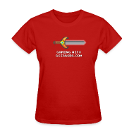 Women's T-Shirts ~ Women's T-Shirt ~ Red Pixel Sword Women