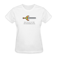 Women's T-Shirts ~ Women's T-Shirt ~ White Pixel Sword Women