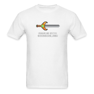 T-Shirts ~ Men's T-Shirt ~ White Pixel Sword Mens