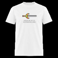 T-Shirts ~ Men's T-Shirt ~ White Pixel Sword Mens