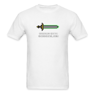 T-Shirts ~ Men's T-Shirt ~ White Pixel Sword 2 Mens