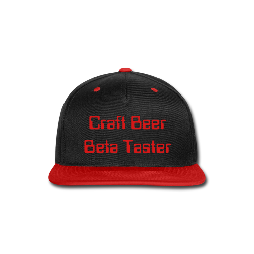 Craft Beer Beta Taster Snap-Back Baseball Cap (Black/Red) - Snap-back Baseball Cap