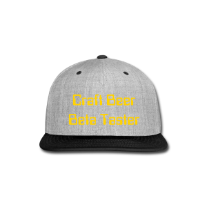 Craft Beer Beta Taster Snap-Back Baseball Cap (Purple/Gold - Snap-back Baseball Cap