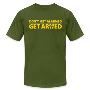 Armed Comfort Request - Men's T-Shirt by American Apparel