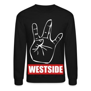 Black/Red WestSide Crewneck - Crewneck Sweatshirt