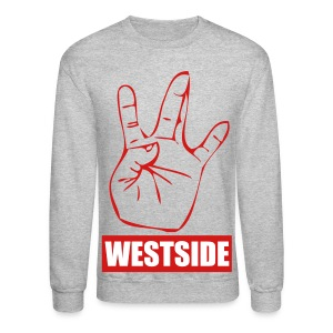 Grey/Red WestSide Crewneck - Crewneck Sweatshirt
