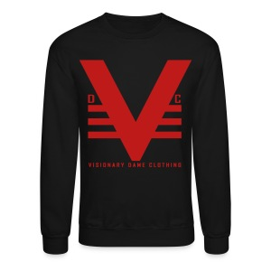 Black/Red Glitz Visionary Dame Original Crewneck - Crewneck Sweatshirt