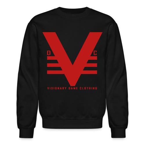 Black/Red Glitz Visionary Dame Original Crewneck - Crewneck Sweatshirt
