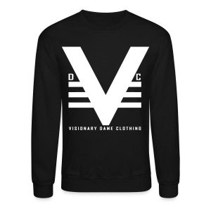 Black/White Visionary Dame Original Crewneck - Crewneck Sweatshirt