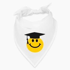 Graduate Smiley face Caps