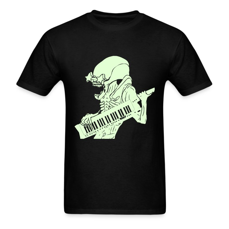 Glow-in-the-Dark Xenu - Men's T-Shirt