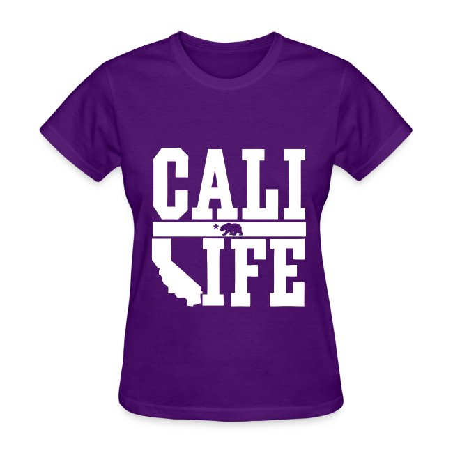 Crowne Apparel Cali Life California Womens Girls T Shirt Womens