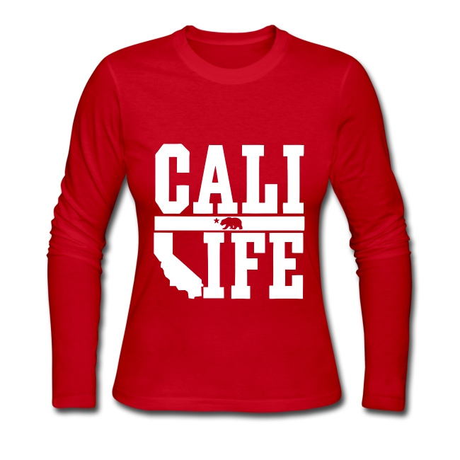 Crowne Apparel Cali Life California Womens Girls Long Sleeve Shirt