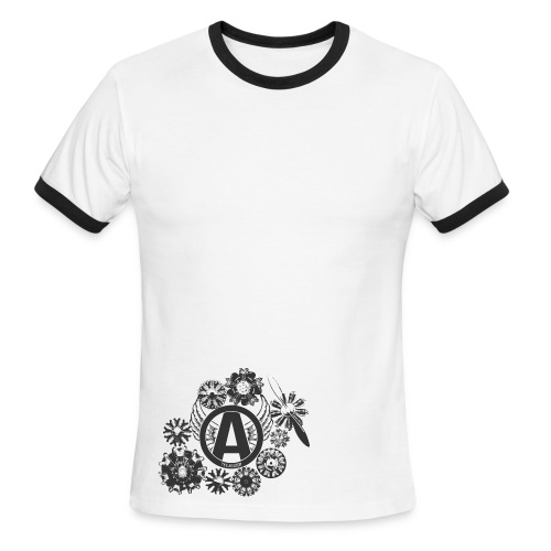 enginesavatardesignblack - Men's Ringer T-Shirt