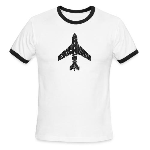 typeface_black - Men's Ringer T-Shirt