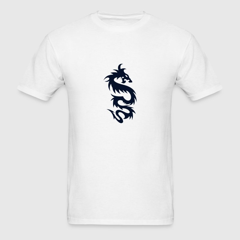 Tribal Dragon - Tattoo - Cool - Vector - Fantasy T-Shirts - Men's T-Shirt