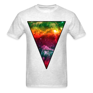 Colorful Space Triangle T-Shirts