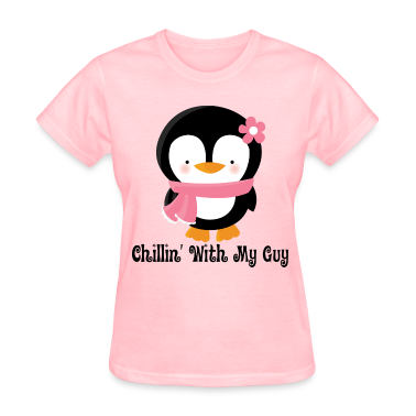 Couples Love Womens T-shirt (Penguin)