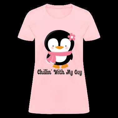 Couples Love Womens T-shirt (Penguin)