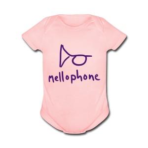 Mellophone Short Onesie - Short Sleeve Baby Bodysuit