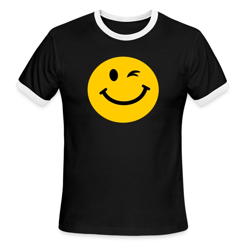 winking smiley face t shirt spreadshirt. Black Bedroom Furniture Sets. Home Design Ideas