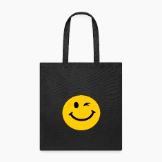 Winking Smiley face Bags & backpacks