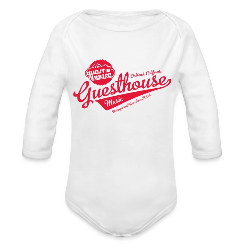 GuesthouseWMCShirts-PressFile-red.png - Long Sleeve Baby Bodysuit
