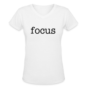 focus women's t-shirt - Women's V-Neck T-Shirt