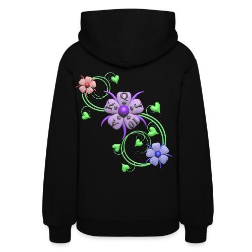 Lucky Flowers Women's Poker Hoodie - Women's Hoodie