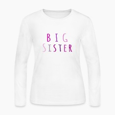 Big Sister in pink Long Sleeve Shirts