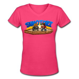 Sumotori T-Shirt (F) - Women's V-Neck T-Shirt