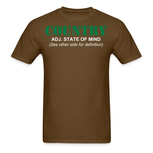What is Country Brown Men's T-Shirt - Men's T-Shirt