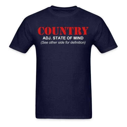 What is Country Navy Men's T-Shirt - Men's T-Shirt