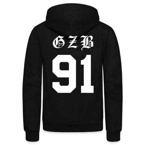 CL GZB Double Sided - Unisex Fleece Zip Hoodie by American Apparel