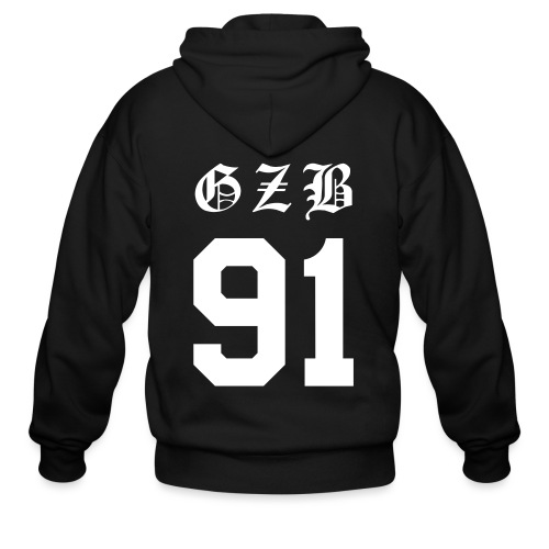 CL GZB Double Sided-White - Men's Zip Hoodie