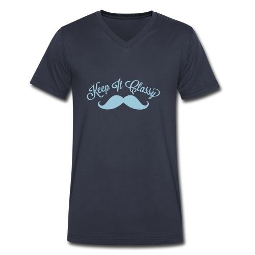 moustache - Men's V-Neck T-Shirt by Canvas