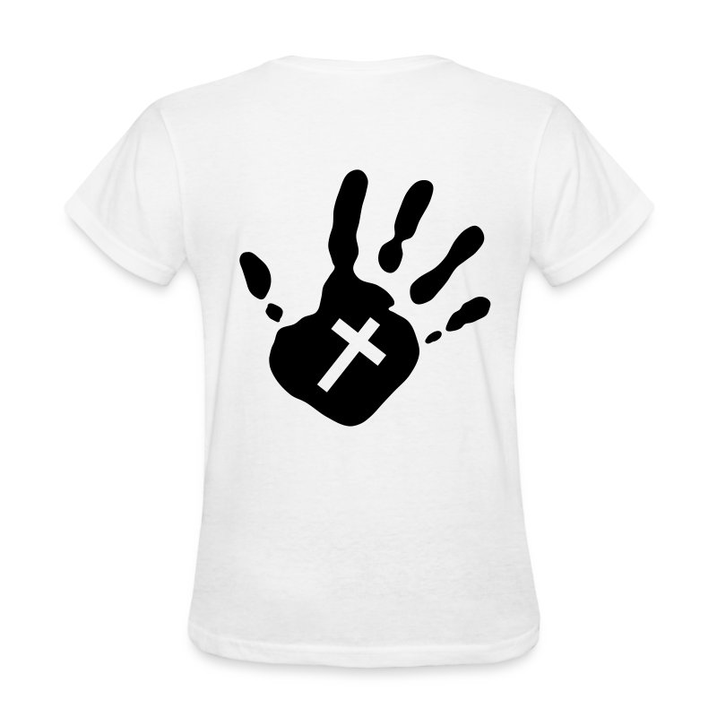 handprint cross 1c - Women's T-Shirt