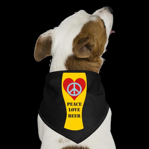 Peace Love Beer Dog Bandana - Dog Bandana