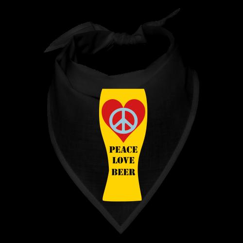 Peace Love Beer Bandana - Bandana