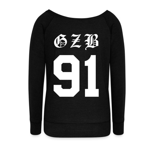 GZB CL Face (White) -Double Sided - Women's Wideneck Sweatshirt
