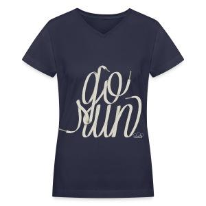 Women's Go Run V-Neck T-Shirt - Women's V-Neck T-Shirt