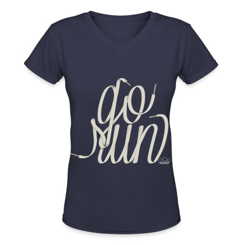 Women's Go Run V-Neck T-Shirt - Women's V-Neck T-Shirt