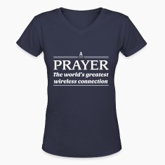 Prayer.World's greatest wireless connection Women's T-Shirts