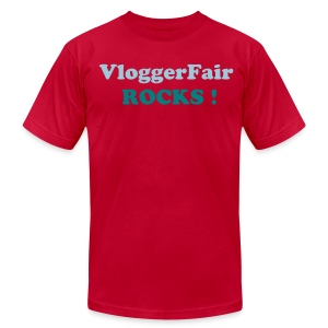 VloggerFair Rocks - Men's T-Shirt by American Apparel