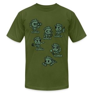 HTF - Flippy Armymen - Men's T-Shirt by American Apparel