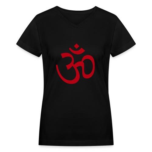 Om (Aum) Shirt for Men and Women - Women's V-Neck T-Shirt